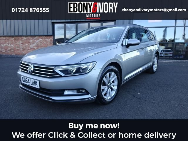 USED 2015 64 VOLKSWAGEN PASSAT 1.6 S TDI BLUEMOTION TECHNOLOGY 5d 119 BHP + FULL SERVICE HISTORY + 1 YEAR MOT AND BREAKDOWN COVER