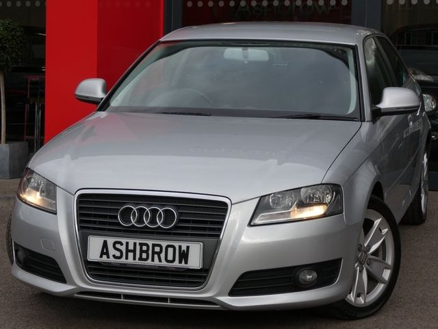 USED 2010 10 AUDI A3 2.0 TDI SPORT 3d 140 S/S GOOD SERVICE HISTORY, CAMBELT CHANGED, £30 ROAD TAX (115 G/KM), MANUAL 6 SPEED GEARBOX START STOP TECHNOLOGY, DAYTIME RUNNING LIGHTS, FRONT FOG LIGHTS, 17 INCH ALLOY WHEELS, GREY CLOTH INTERIOR, SPORT SEATS, LEATHER MULTIFUNCTION STEERING WHEEL, DUAL CLIMATE AIR CON, CONCERT CD RADIO, AUX INPUTM FRONT CENTRE ARM REST, ELECTRIC WINDOWS, ELECTRIC HEATED MIRRORS, REMOTE CENTRAL LOCKING, AIRBAGS WITH PASSANGER OFF FUNCTION, FOLDING REAR SEATS, ISO FIX, HPI CLEAR, PART EXCHANGE TO CLEAR