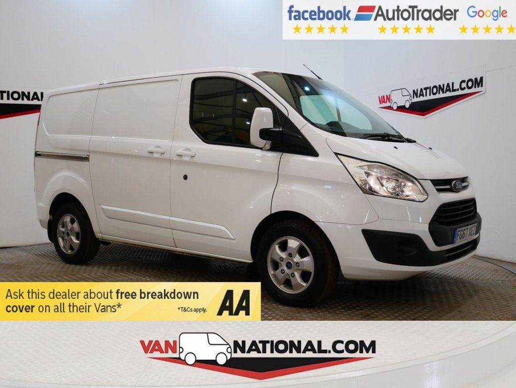 USED 2017 67 FORD TRANSIT CUSTOM 2.0 290 LIMITED LR P/V 170 BHP * EURO 6 * TWIN DOOR * AIR CON *