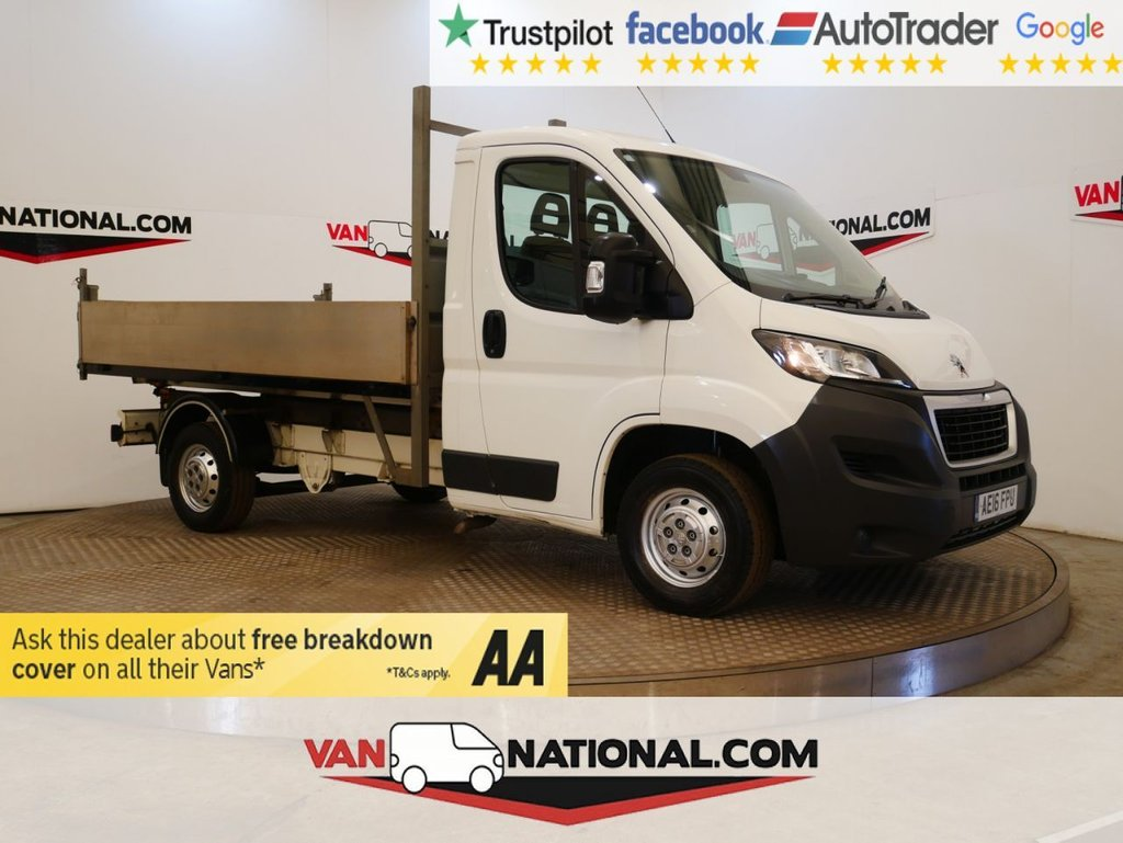 USED 2016 16 PEUGEOT BOXER 2.2 HDI 335 L2 130 BHP TIPPER * ALLOY BODY TIPPER * BLUETOOTH *