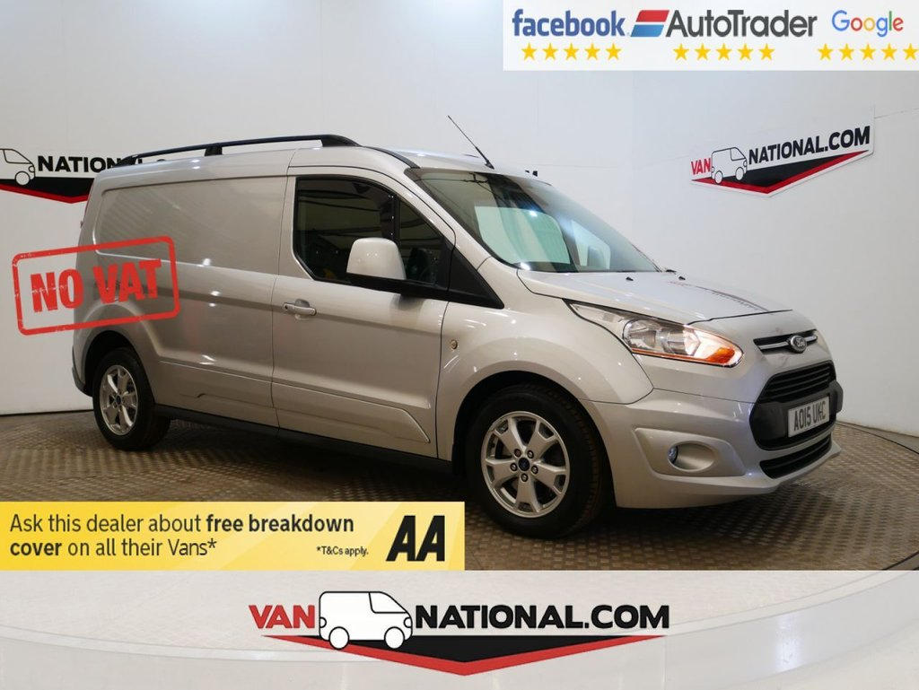 USED 2015 15 FORD TRANSIT CONNECT 1.6 240 LIMITED 115 BHP L2 LWB * NO VAT * AIR CON * ALLOYS * LWB *
