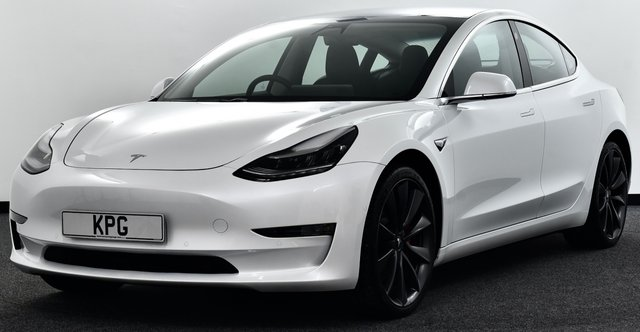 """USED 2020 69 TESLA Model 3 Dual Motor Performance Auto 4WDE 4dr (Performance Upgrade) 1 Owner, Pan Roof, 20""""s + More"""