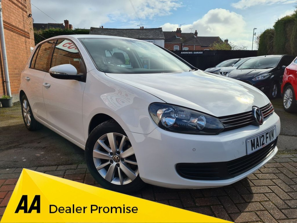 USED 2012 12 VOLKSWAGEN GOLF 1.6 TDi 105 BlueMotion Tech Match 5dr