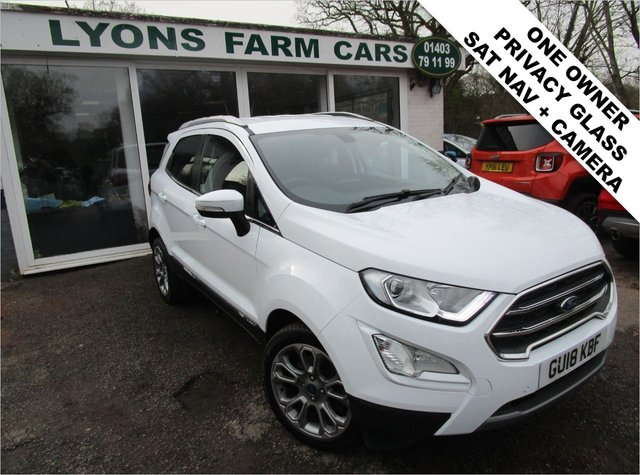 USED 2018 18 FORD ECOSPORT 1.0 TITANIUM 5d 124 BHP One Owner from new, Ford Service History + Just Serviced, NEW MOT, Great fuel economy!