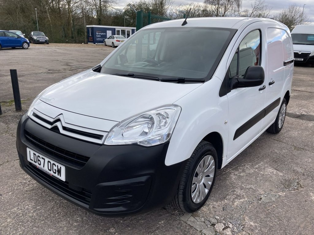 USED 2017 67 CITROEN BERLINGO 1.6 850 ENTERPRISE L1 BLUEHDI 98 BHP 1 OWNER FSH FREE WARRANTY INCLUDING RECOVERY AND ASSIST NEW MOT