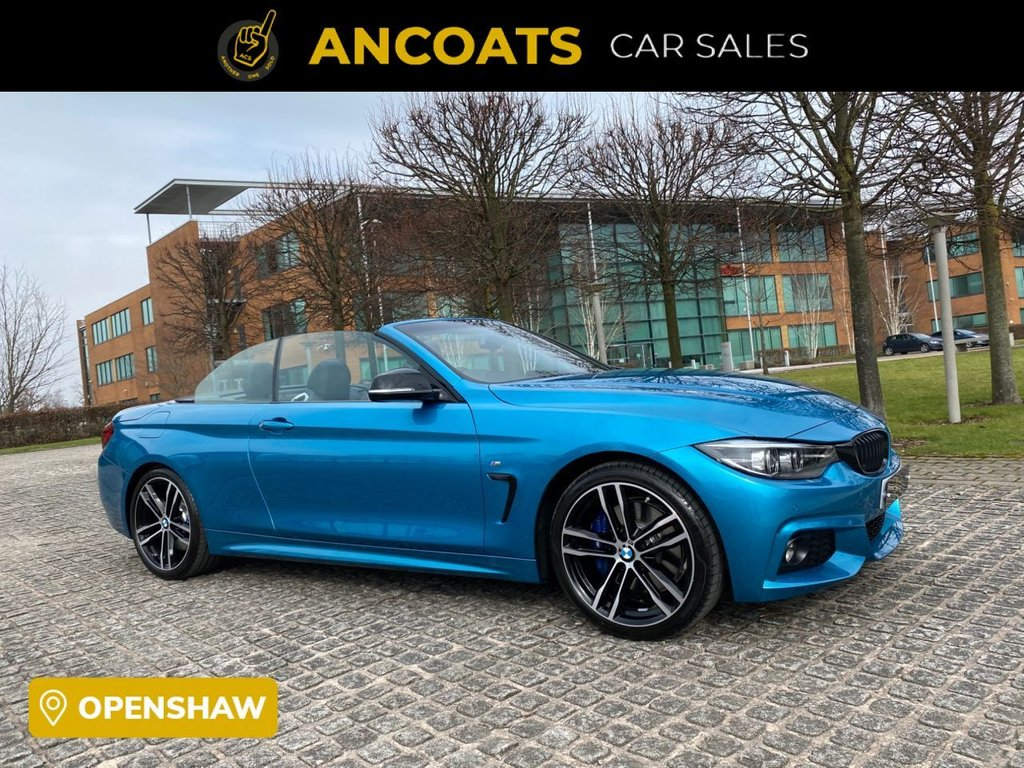 USED 2019 69 BMW 4 SERIES 2.0 420I M SPORT 2d AUTO 181 BHP Full Heated Leather Seat+Memory+2 KeysLike New+Finance+PCP+Service History+Pro Sat-Nav+Air Scarf+Xenon+Harman Kardon+ 2 Years Manufacturer Warranty+Dab+Sensor Nationwide Delivery+Nationwide Warranty