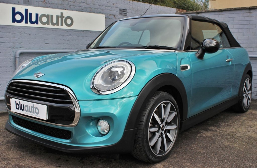 USED 2017 67 MINI CONVERTIBLE 1.5 COOPER 2d 134 BHP 1 Owner, Mini History, Reversing Camera & Sensors, Part Leather Interior, Satellite Navigation, Cruise Control, Bluetooth Connectivity
