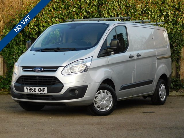 USED 2016 66 FORD TRANSIT CUSTOM 2.2 270 TREND LR P/V 124 BHP NO VAT+Security Locks+Cruise