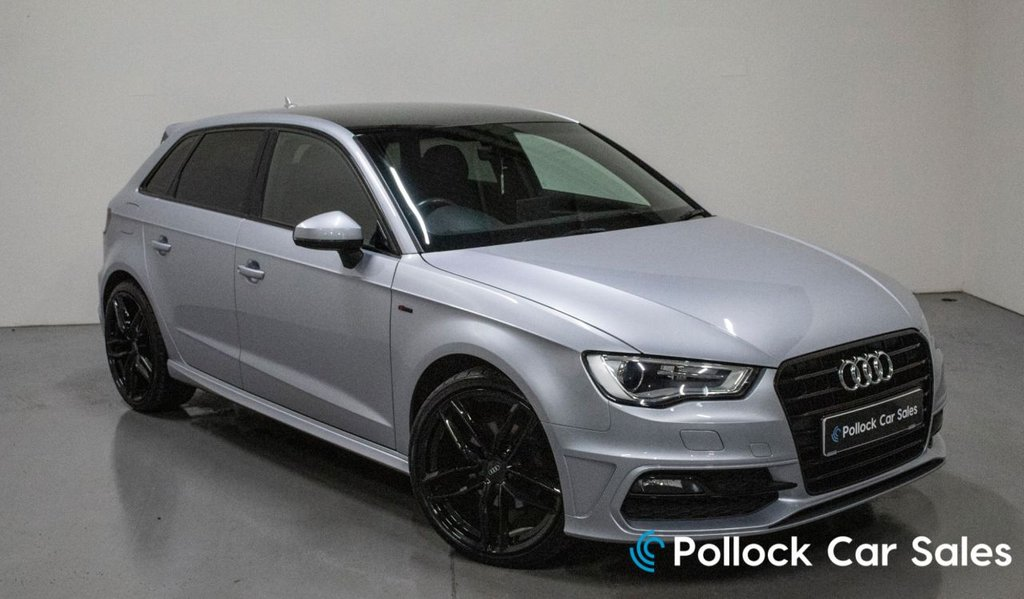 "USED 2015 60 AUDI A3 1.6 TDI S LINE 5d 110BHP Blk Edition styl, 19"" Wheel upgrade included, Privacy Glass"