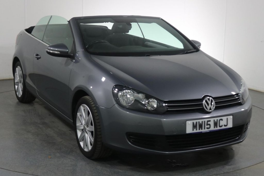 USED 2015 15 VOLKSWAGEN GOLF 1.6 SE TDI BLUEMOTION TECHNOLOGY CONVERTIBLE 2d 104 BHP 6 Stamp FULL SERVICE HISTORY