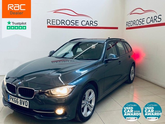 USED 2016 66 BMW 3 SERIES 1.5 318I SPORT TOURING 5d 135 BHP SRVC HISTORY, 1 OWNER, 2 KEYS
