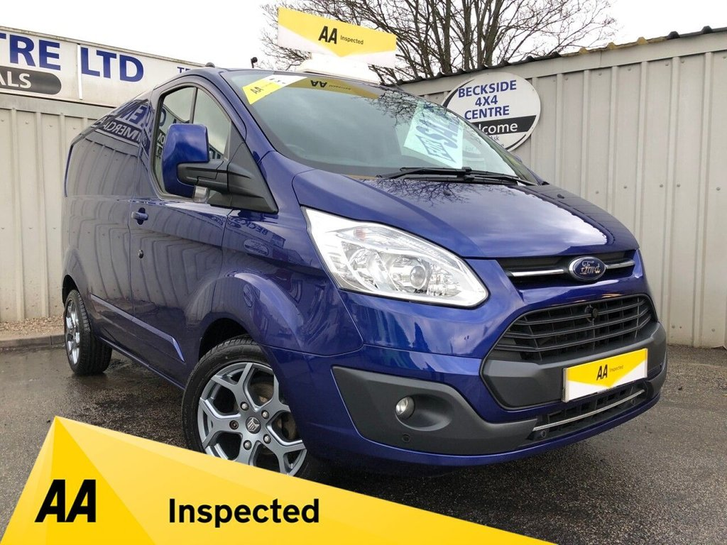 USED 2016 66 FORD TRANSIT CUSTOM 2.0 270 LIMITED LR P/V 168 BHP NO VAT AA INSPECTED. FINANCE. WARRANTY. HIGH SPEC. LOW MILEAGE. NO VAT