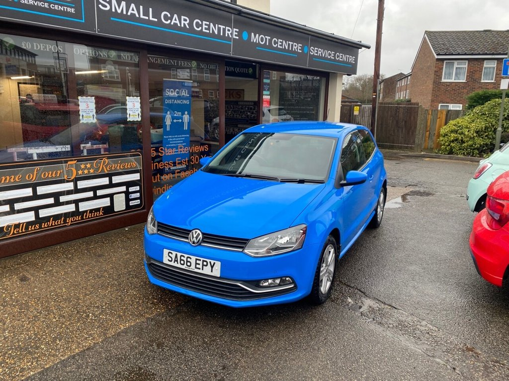 USED 2016 66 VOLKSWAGEN POLO 1.2 MATCH TSI 3d 89 BHP BLUETOOTH DAB - USB - AIRCON - FRONT & REAR PARKING SENSORS