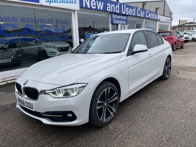 USED 2018 68 BMW 3 SERIES 2.0 320D SPORT 4d 188 BHP 1OWR*LEATHER*NAV*CRUISE*SERVICE HISTORY*PARKING SENSORS