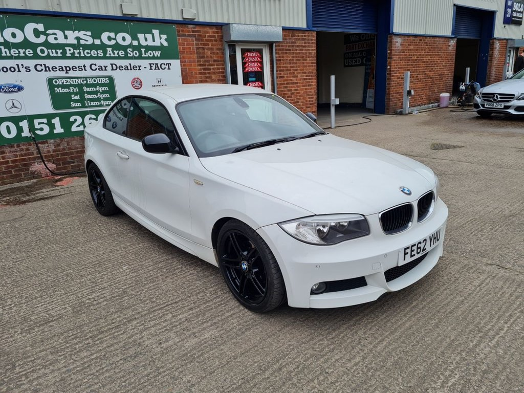 USED 2012 62 BMW 1 SERIES 2.0 118D SPORT PLUS EDITION 2d 141 BHP +HEATED LEATHER +SERVICED