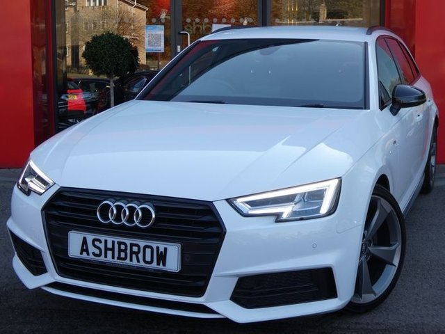 USED 2017 67 AUDI A4 AVANT 1.4 TFSI BLACK EDITION 5d 150 S/S FULL SERVICE HISTORY, SAT NAV, HEATED FRONT SEATS, 19 INCH AUDI SPORT ALLOYS, AUDI SMART PHONE FOR APPLE CAR PLAY & ANDROID AUTO, AUDI CONNECT, DAB RADIO, BLUETOOTH PHONE & AUDIO STREAMING, FRONT & REAR PARKING SENSORS WITH DISPLAY, CRUISE CONTROL WITH SPEED LIMITER, MANUAL 6 SPEED, PRIVACY GLASS, ELECTRIC TAILGATE, LEATHER ALCANTARA INTERIOR, SPORT SEATS, LEATHER FLAT BOTTOM MULTIFUNCTION STEERING WHEEL, LIGHT & RAIN SENSORS, DRIVE SELECT, KEYLESS START, ILLUMINATING VANITY MIRRORS, VAT Q