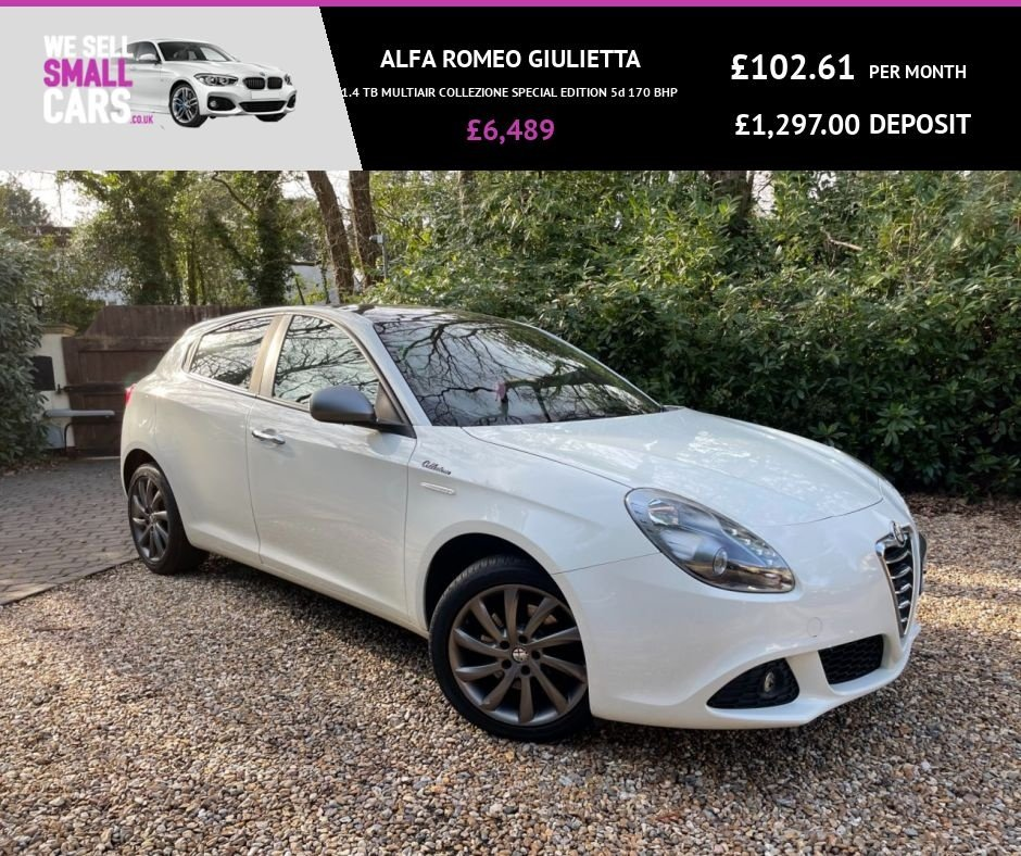 USED 2013 63 ALFA ROMEO GIULIETTA 1.4 TB MULTIAIR COLLEZIONE SPECIAL EDITION 5d 170 BHP 2 OWNERS FULL SERVICE HISTORY RARE CAR LOW MILES BLACK ROOF A/C