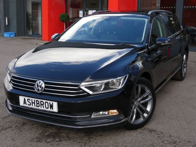 USED 2017 67 VOLKSWAGEN PASSAT ESTATE 2.0 TDI GT BLUEMOTION TECH 5d 150 S/S GLASS PANORAMIC SUNROOF(GLASS PAN ROOF / PANO SUN ROOF), VIRTUAL COCKPIT (DIGITAL DASH), SAT NAV, DAB RADIO, HEATED FRONT SEATS, BLUETOOTH PHONE & MUSIC STREAMING, DAB RADIO, MANUAL 6 SPEED, FRONT & REAR PARKING SENSORS WITH DISPLAY (PARK PILOT), 18 INCH 10 SPOKE ALLOYS, TINTED GLASS, BLACK LEATHER ALCANTARA INTERIOR, LEATHER FLAT BOTTOM MULTI FUNCTION STEERING WHEEL, KEY-LESS START, AUTO LIGHTS & WIPERS, ADAPTIVE CRUISE CONTROL, FRONT ASSIST, ELECTRIC FOLDING MIRRORS,1 OWNER, SERVICE HISTORY