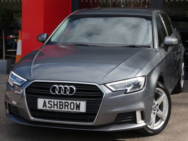 USED 2016 66 AUDI A3 SPORTBACK 1.0 TFSI SPORT 5d 115 S/S UPGRADE REAR ACOUSTIC PARKING SENSORS, £20 ROAD TAX, SAT NAV, APPLE CAR PAY / ANDROID AUTO, BI-XENON HEADLIGHTS WITH LED DAYTIME RUNNING LIGHTS & HEADLAMP WASHERS, CRUISE CONTROL, DAB RADIO, BLUETOOTH PHONE & AUDIO STREAMING, USB PORTS x2, AUX INPUT, WIFI / WLAN PLAYER, SD CARD READER x2, SIM CARD READER, MANUAL 6 SPEED GEARBOX, UAL CLIMATE AIR CONDITIONING, SPORT SEATS, LEATHER MULTI FUNCTION STEERING WHEEL, AUTO LIGHTS & WIPERS, AUDI DRIVE SELECT, 1 OWNER FROM NEW, SERVICE HISTORY