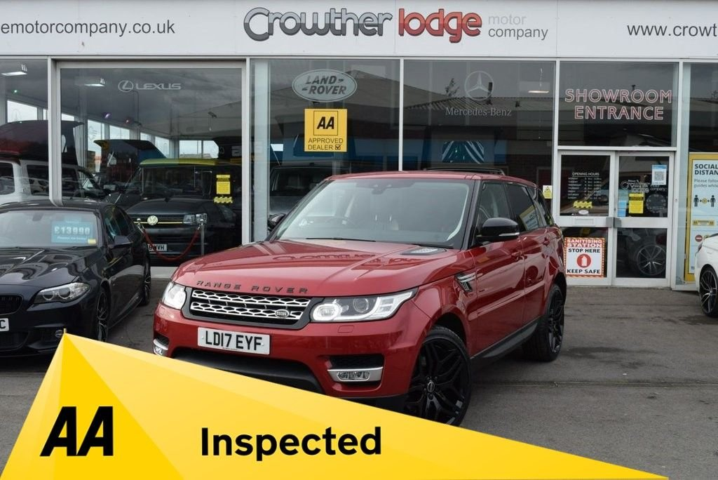 USED 2017 17 LAND ROVER RANGE ROVER SPORT 2.0 SD4 HSE 5d 238 BHP FINANCE TODAY WITH NO DEPOSIT - LAND ROVER SERVICE HISTORY