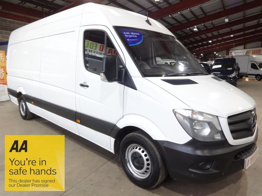 USED 2017 67 MERCEDES-BENZ SPRINTER 2.1 314CDI 140 BHP LWB HI ROOF VAN WITH TAIL LIFT - AA DEALER PROMISE - TRADING STANDARDS APPROVED -