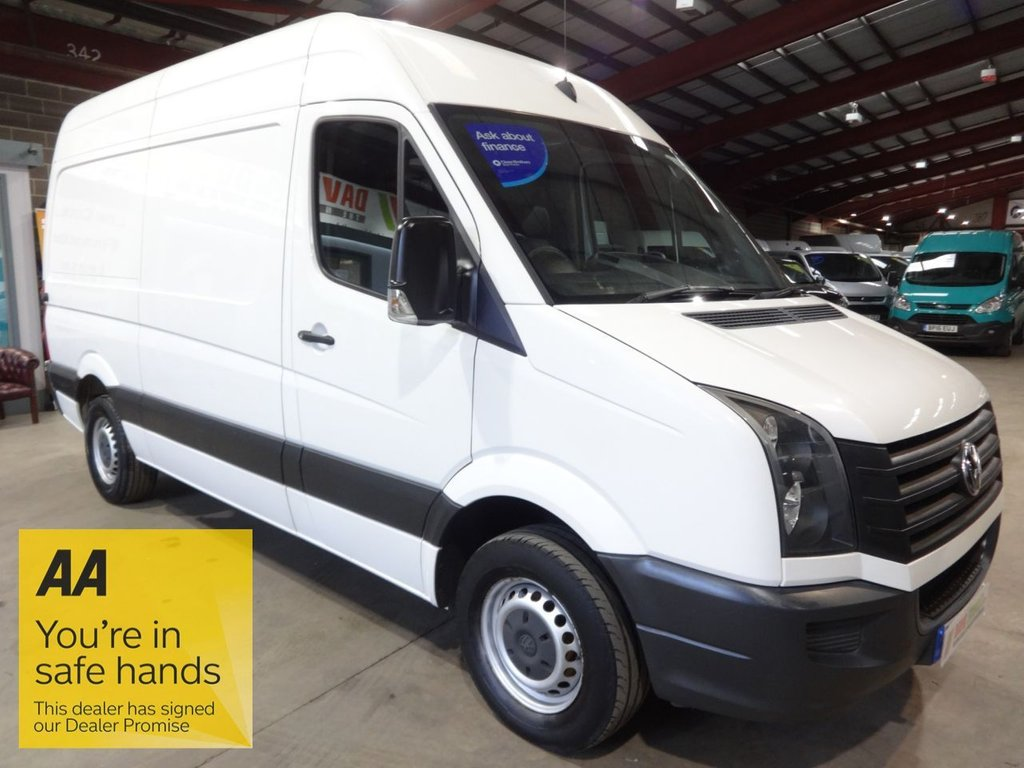 USED 2015 65 VOLKSWAGEN CRAFTER 2.0 CR35 TDI H/R P/V 107 BHP MWB HI ROOF VAN - AA DEALER WARRANTY PROMISE - TRADING STANDARDS APPROVED -