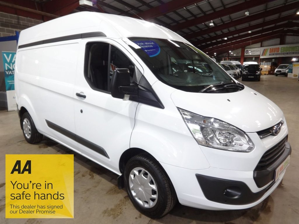 USED 2018 67 FORD TRANSIT CUSTOM 2.0 290 TREND HR P/V 129 BHP L2 H2 LWB HI ROOF VAN - AA DEALER WARRANTY PROMISE - TRADING STANDARDS APPROVED -