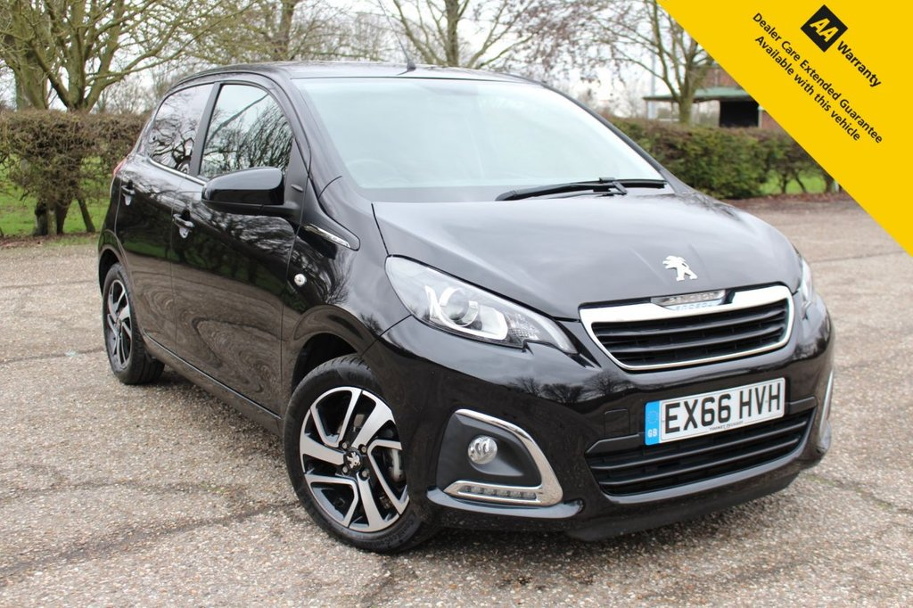 USED 2016 66 PEUGEOT 108 1.2 PURETECH ALLURE 5d 82 BHP ** 1 OWNER ** FULL SERVICE HISTORY ** BRAND NEW SERVICE + ADVISORY FREE MOT ** REAR PARKING CAMERA ** DIAMOND CUT ALLOY WHEELS ** CRUISE CONTROL ** BLUETOOTH ** DAB RADIO ** AUTO LIGHTS ** KEYLESS ENTRY + POWER BUTTON START ** £0 ROAD TAX - ULEZ CHARGE EXEMPT ** CLICK & COLLECT + NATIONWIDE DELIVERY AVAILABLE ** BUY ONLINE IN CONFIDENCE FROM A MULTI AWARD WINNING 5* RATED DEALER **