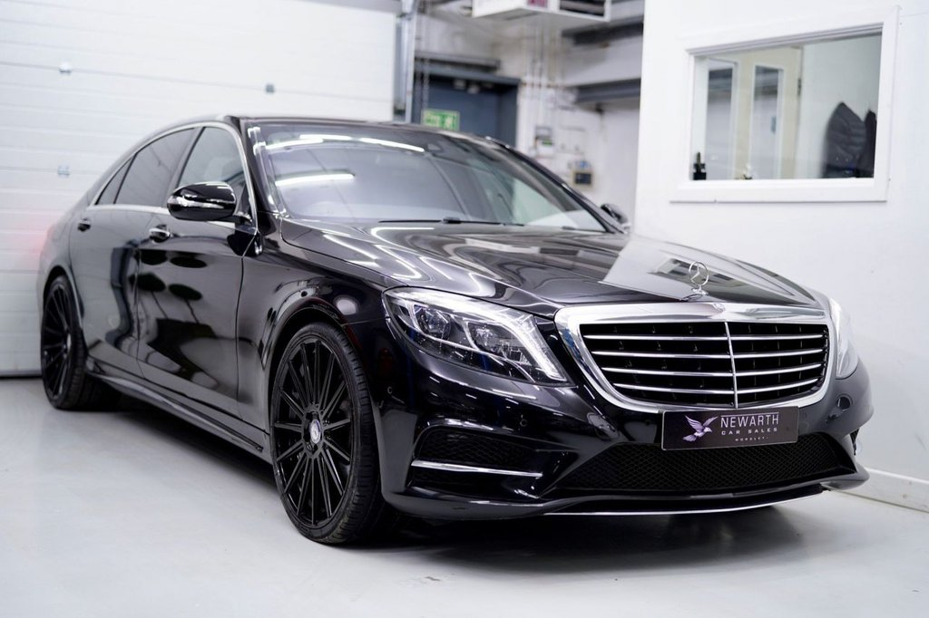 USED 2016 66 MERCEDES-BENZ S-CLASS 3.0 S350L d AMG Line 9G-Tronic Plus (s/s) 4dr 22' Black Alloys | 1 Owner LWB