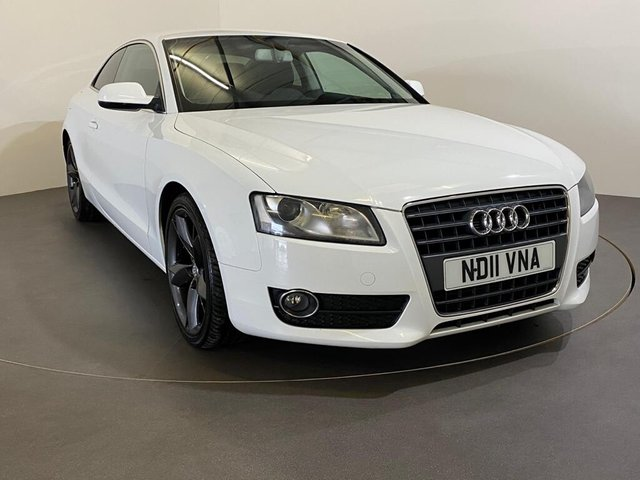 """USED 2011 11 AUDI A5 2.0 TDI SPORT 2d 168 BHP Ibis whire, 19"""" Y Design Alloy wheels, Black Valcano Leather,"""