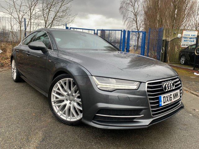 """USED 2016 16 AUDI A7 3.0 SPORTBACK TDI ULTRA S LINE 5d 215 BHP 1 FORMER KEEPER+2 KEYS+NAVIGATION+UPGRADED ALARM SYSTEM+CLIMATE CONTROL+PARKING SENSORS+USB+ELECTRIC WINDOWS+LEATHER SEATS+20"""" ALLOY WHEELS+BLUETOOTH+MEDIA+CRUISE+CLIMATE+AUX+USB+"""