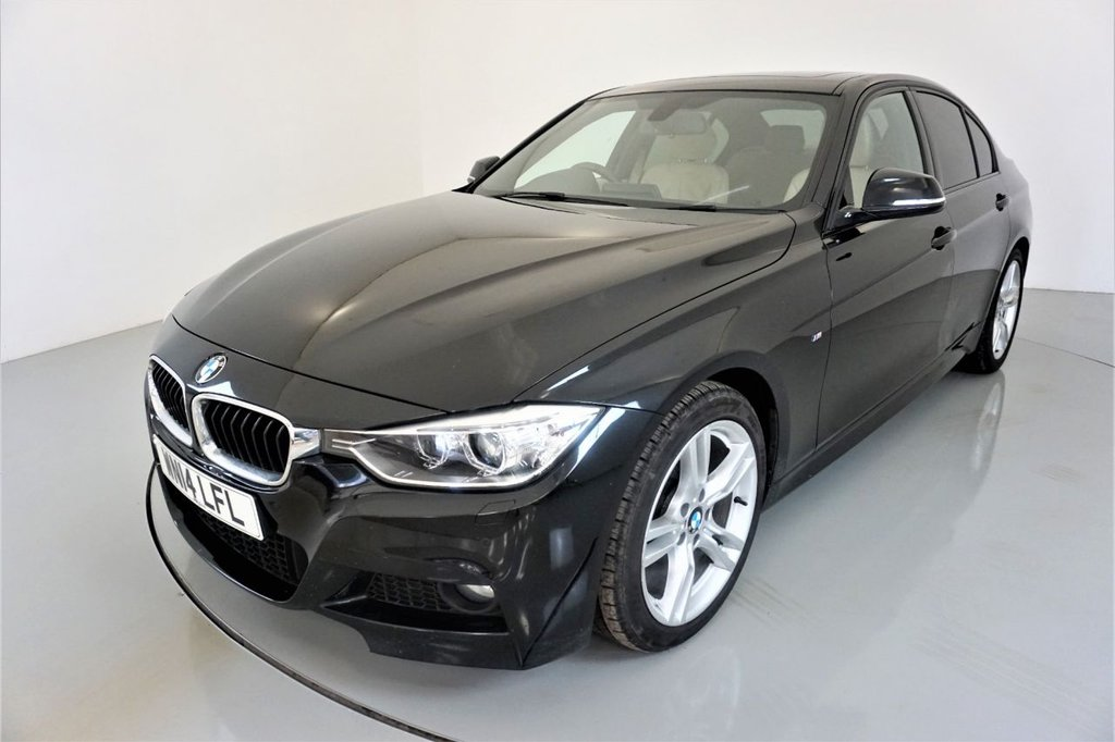 USED 2014 14 BMW 3 SERIES 2.0 318D M SPORT 4d-30 ROAD TAX-SUNROOF-HEATED FRONT SEATS-DAKOTA LEATHER-BLUETOOTH-CRUISE CONTROL-DAB RADIO-PARKING SENSORS-CLIMATE CONTROL-PUSH BUTTON START