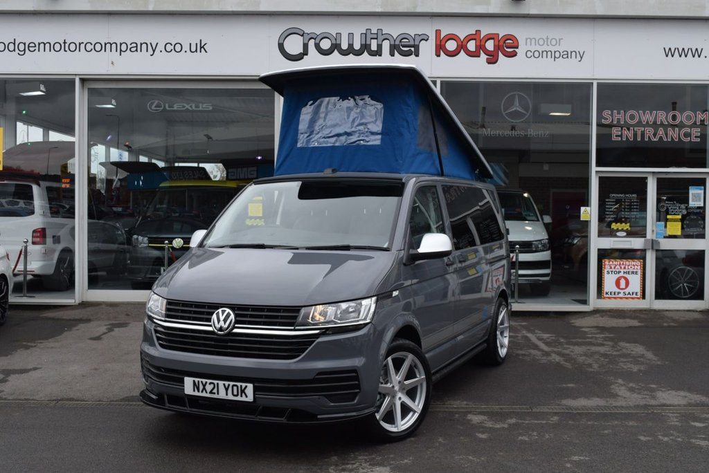 USED 2021 21 VOLKSWAGEN TRANSPORTER 2.0 T28 TDI P/V CAMPERVAN Beat The Waiting List, New 21 plate Van, New 4 Berth Conversion with Solar Panel, Toilet, Night Heater,  Wireless charging, New color of Pure Grey.  AVAILABLE FOR IMMEDIATE DELIVERY