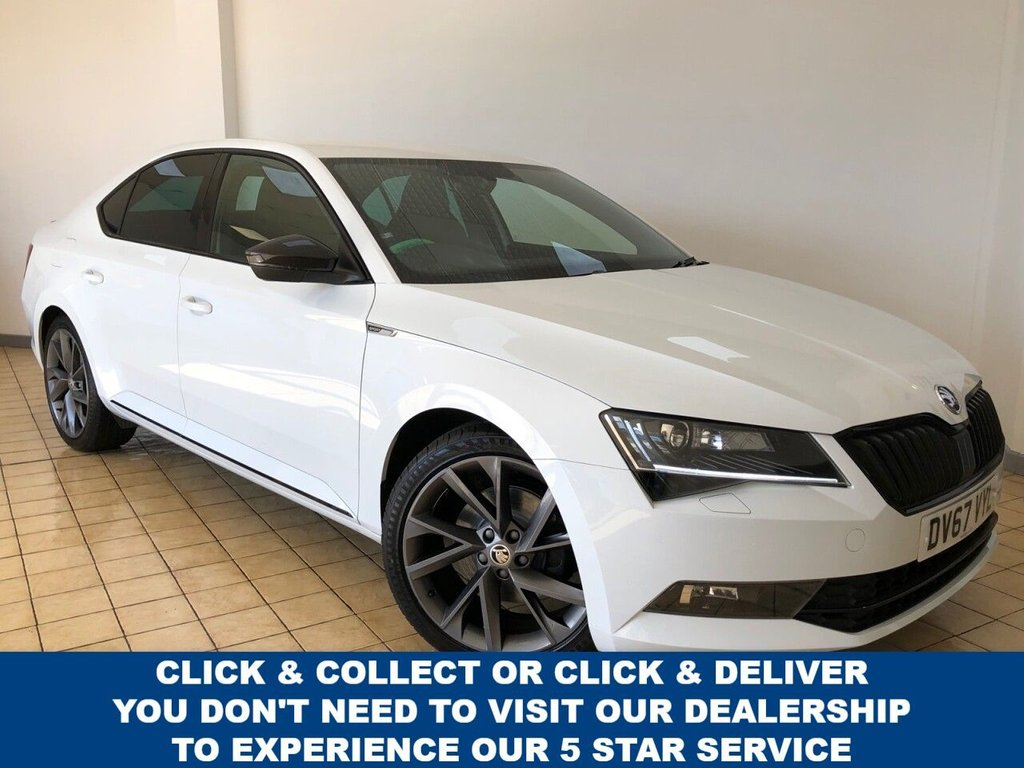 USED 2017 67 SKODA SUPERB 2.0 SPORTLINE TDI DSG 5d 5 Seat Family Hatchback AUTO with Massive Spec including Sat Nav, Wi-fi Drive Mode Selector, Apple Car play/Android Auto, 9.2in touch screen, Voice Control System Recent Service & MOT New Front Brakes 4 New Tyres Now Ready to Drive Away Today  1 Former Keeper