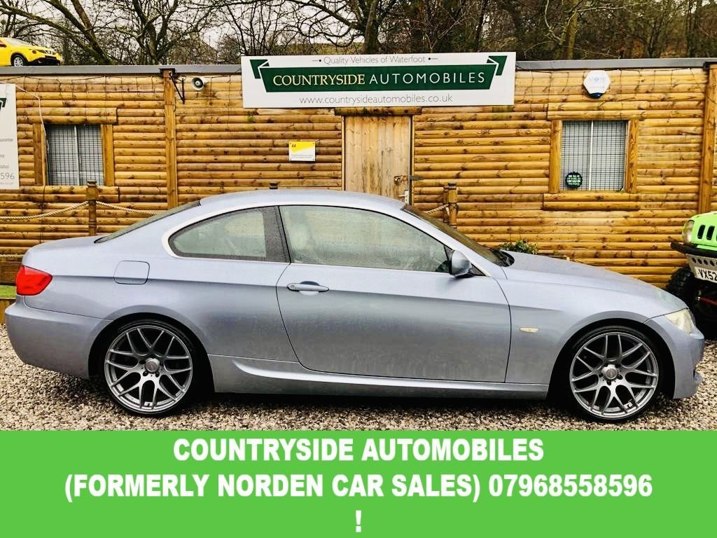 USED 2010 60 BMW 3 SERIES 2.0 320D M SPORT 2d 181 BHP Stunning example of a M sport, special edition blue-water metalic with colour coded 19 inch Romac Radium Alloys. Chromeline exterior pack.interior is dressed with Dakota oyster leather, compliumented with Aluminium trim pack. 6 speed manual box with M sport metal gear nob.M Leather steering wheel. Electric front seats, M sport sill covers, Individual Anthracite roof lining. Digital climate, BMW Proffesional Audio. Xenon lights. Stunning example. NEW TIMING CHAIN 5000 MILES AGO !