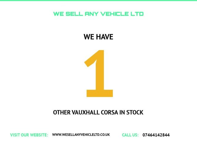 USED 2013 13 VAUXHALL CORSA 1.4 T BLACK EDITION LIMITED EDITION LONG MOT