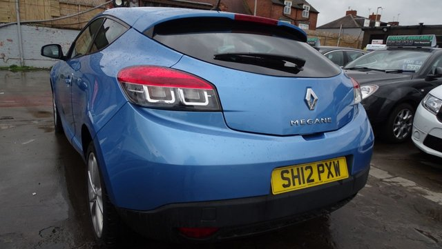 USED 2012 12 RENAULT MEGANE 1.5 DYNAMIQUE TOMTOM ENERGY DCI S/S 3d 110 BHP 1 YEAR MOT INCLUDED £0 TAX