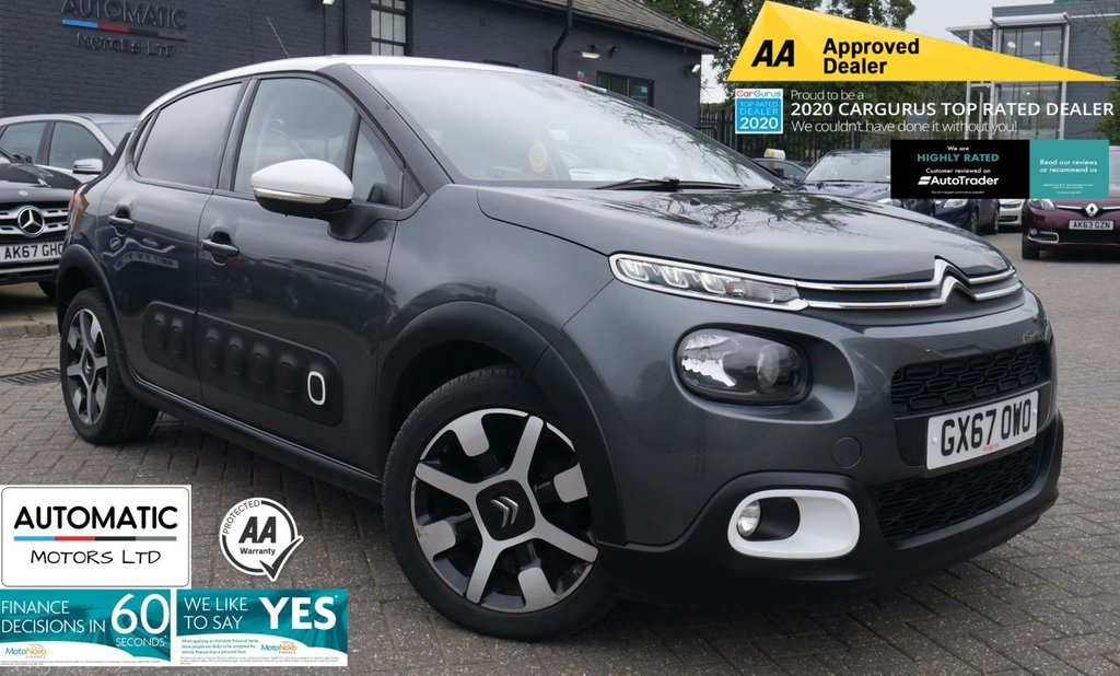 USED 2017 67 CITROEN C3 1.6 BLUEHDI FLAIR S/S 5d 98 BHP 2017 CITROEN C3 1.6 BLUEHDI 1 FORMER KEEPER FRESH SERVICE BLUETOOTH, PARKING SENSORS, CLIMATE CONTROL, CRUISE CONTROL