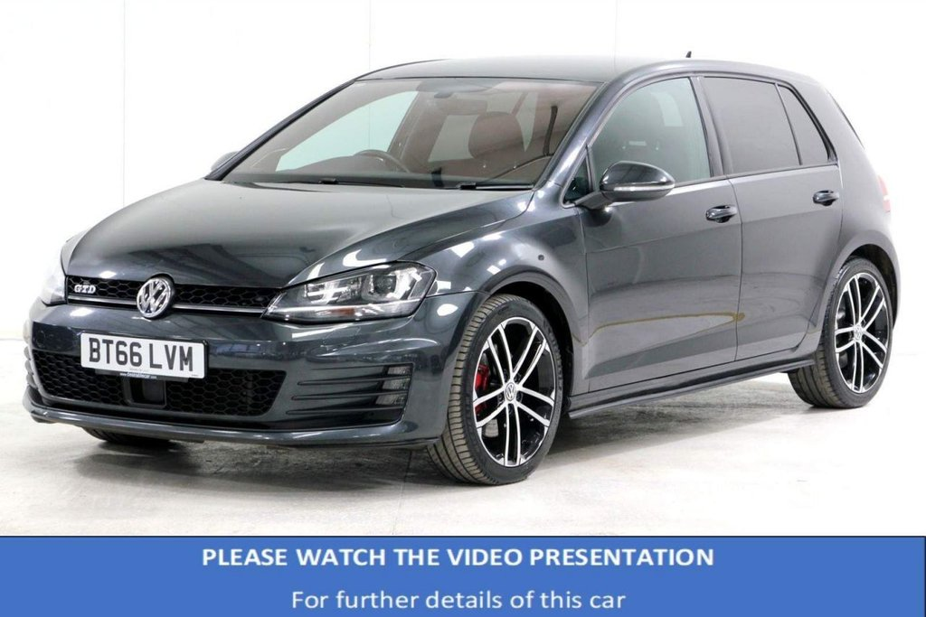 USED 2016 66 VOLKSWAGEN GOLF 2.0 TDI BlueMotion Tech GTD 5dr VAT Q*TECH PACK*SOUND&SPORT PK