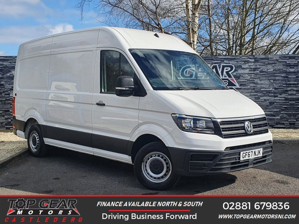 USED 2017 67 VOLKSWAGEN CRAFTER CR35 2.0 TDI 140BHP TRENDLINE MWB H/R  ** A/C, CRUISE CONTROL, BLUETOOTH ** OVER 90 VANS IN STOCK