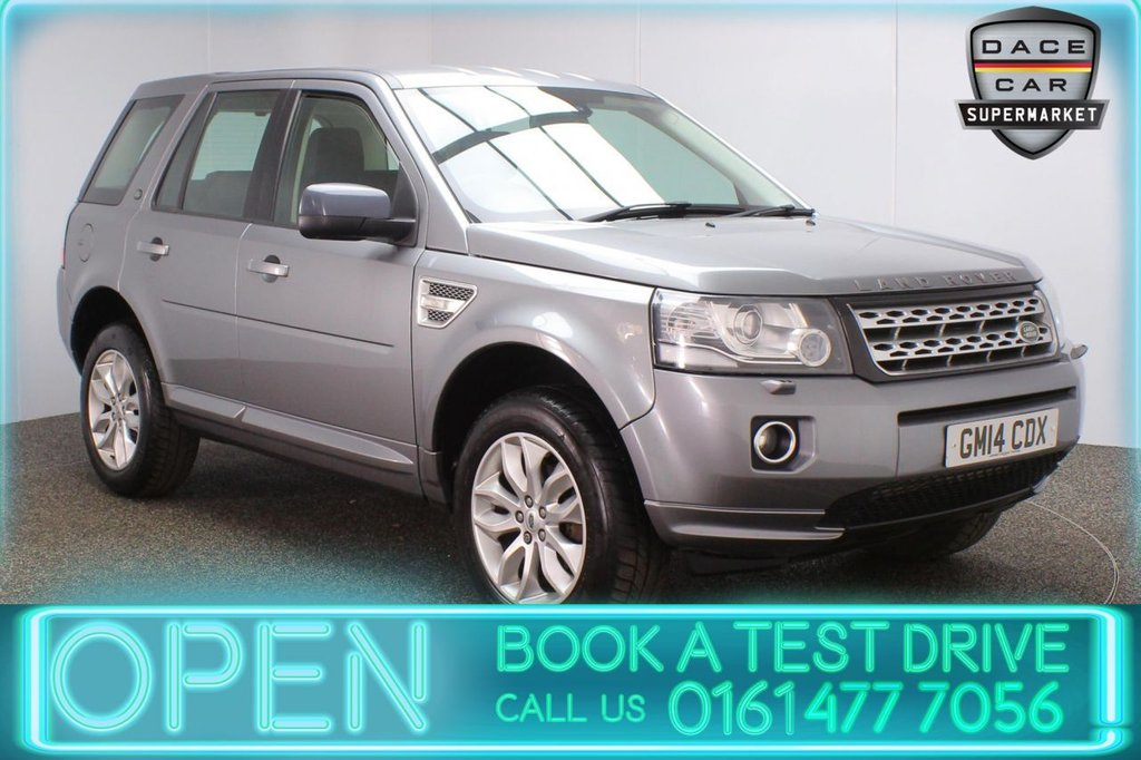 USED 2014 14 LAND ROVER FREELANDER 2.2 SD4 XS 5DR AUTO 190 BHP LAND ROVER SERVICE HISTORY + HEATE LEATHER SEATS + SATELLITE NAVIGATION + PARKING SENSOR + BLUETOOTH + CRUISE CONTROL + CLIMATE CONTROL + MULTI FUNCTION WHEEL + XENON HEADLIGHTS + DAB RADIO + AUX/USB PORTS + ELECTRIC WINDOWS + ELECTRIC/HEATED DOOR MIRRORS + 18 INCH ALLOY WHEELS