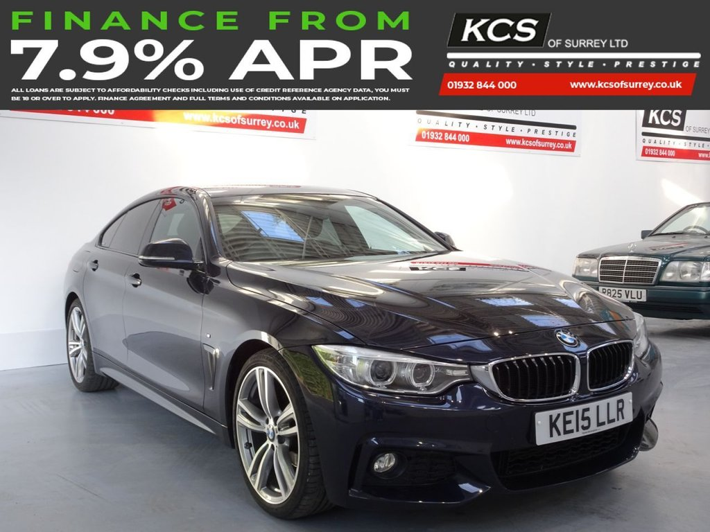 USED 2015 15 BMW 4 SERIES 2.0 420I M SPORT GRAN COUPE 4d 181 BHP PRO NAV - XENONS - HTD SEATS