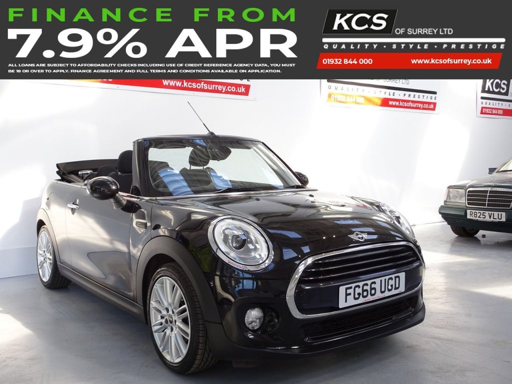 USED 2016 66 MINI CONVERTIBLE 1.5 COOPER 2d 134 BHP CHILI PACK - MEDIA XL SAT NAV