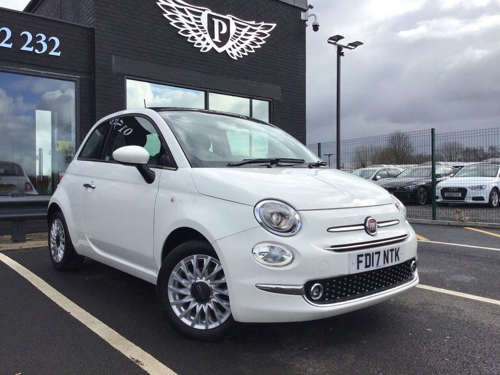 USED 2017 17 FIAT 500 1.2 LOUNGE 3d 69 BHP 14 DAY MONEY BACK GUARANTEE*