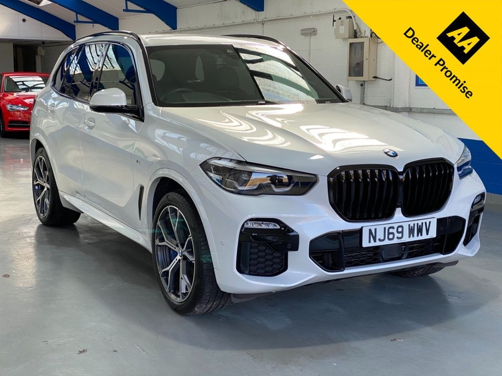 USED 2019 69 BMW X5 3.0 XDRIVE30D M SPORT 5d 261 BHP *PEARL WHITE---FULL SERVICE HISTORY*