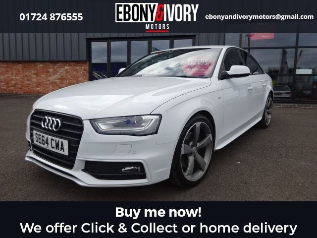USED 2015 64 AUDI A4 2.0 TDI BLACK EDITION 4d 148 BHP FULL AUDI SERVICE HISTORY + 1 YEAR MOT AND BREAKDOWN COVER