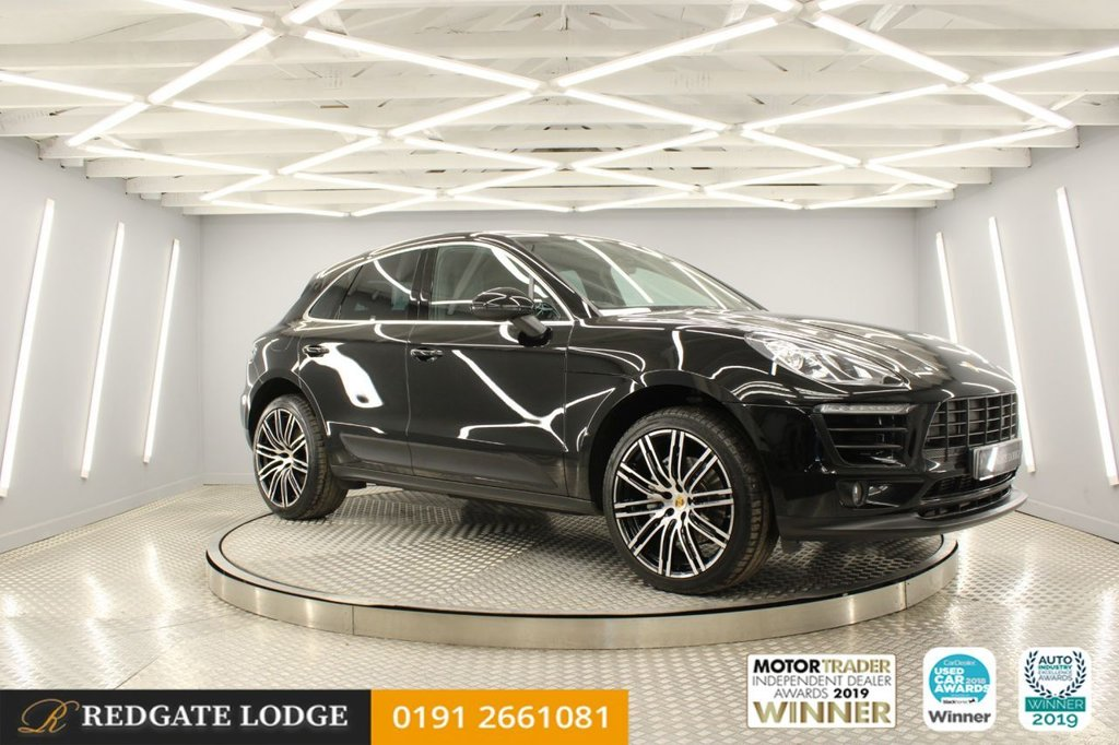 "USED 2017 17 PORSCHE MACAN 3.0 D S PDK 5d 258 BHP SAT/NAV, LEATHER, DAB, BLUETOOTH, TINTED GLASS, UPGRADED 21"" TURBO FRESHLY DIAMOND CUT ALLOYS"