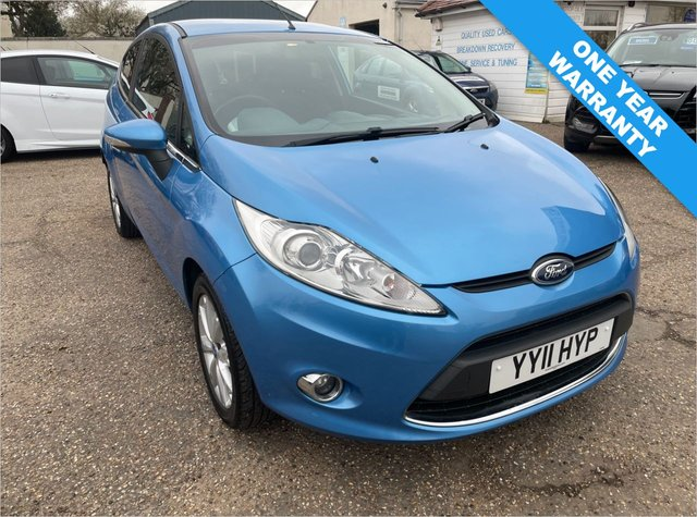 USED 2011 11 FORD FIESTA 1.2 ZETEC 3d 81 BHP ONE YEAR WARRANTY INCLUDED / VOICE COMMS / USB . BLUETOOTH