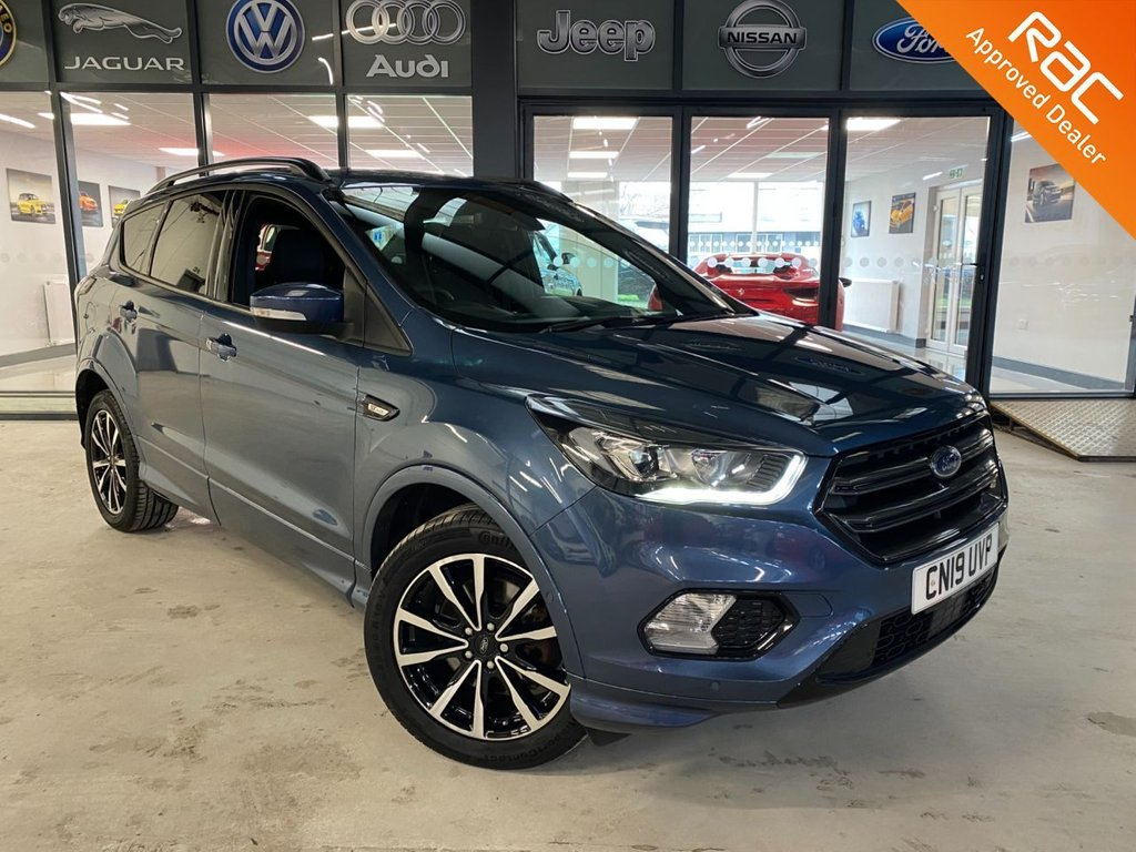 USED 2019 19 FORD KUGA 1.5 ST-LINE 5d 176 BHP Complementary 12 Months RAC Warranty and 12 Months RAC Breakdown Cover Also Receive a Full MOT With All Advisory Work Completed, Fresh Engine Service and RAC Multipoint Check Before Collection/Delivery