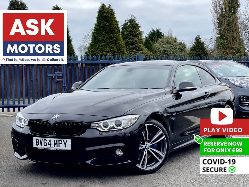 USED 2015 64 BMW 4 SERIES 2.0 420D M SPORT 2d 181 BHP SATNAV HARMAN KARDON SPEAKERS